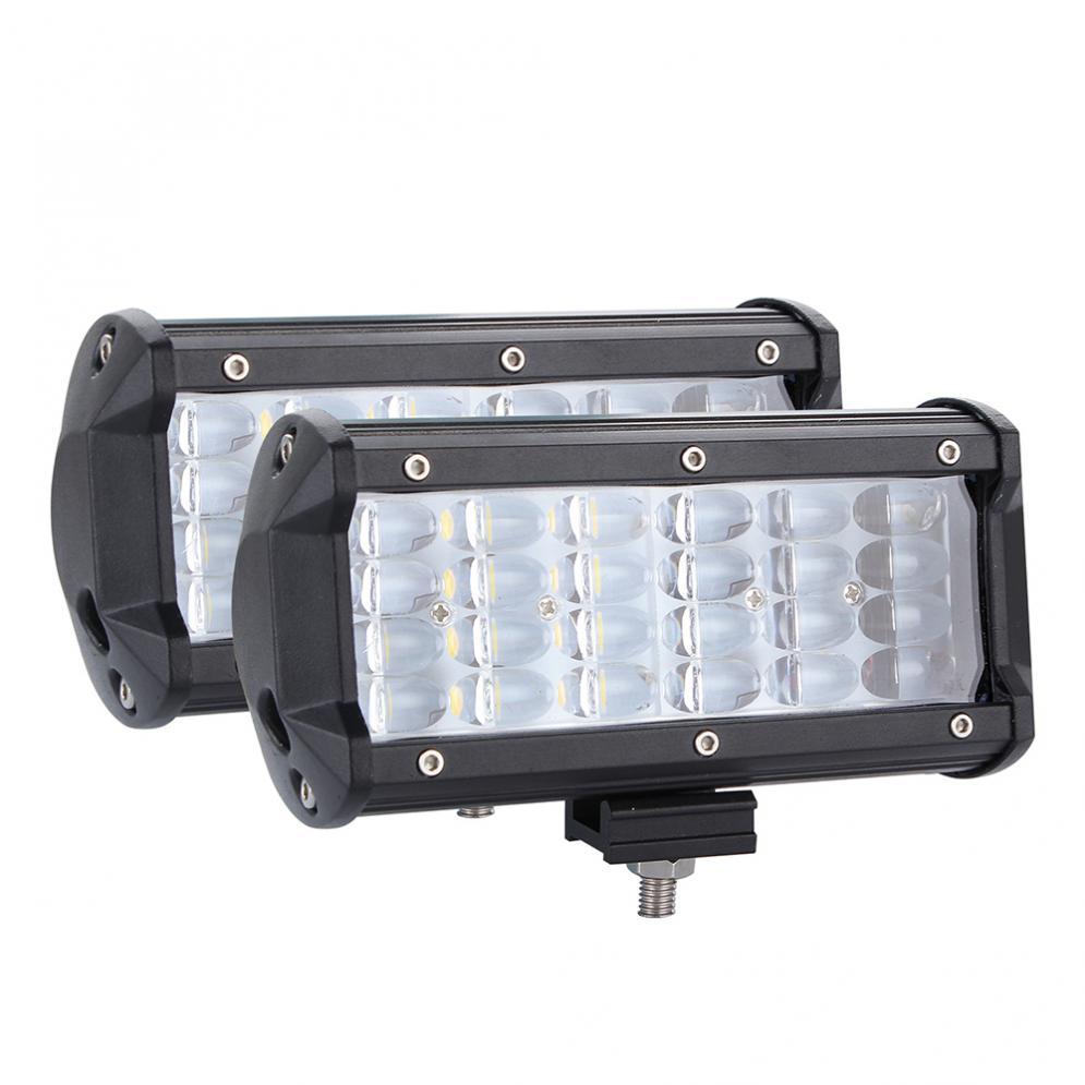 2pcs 7 Inch 432W 43200LM Quad Row Off Road Combo LED Light Bar Driving Fog Lamps
