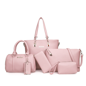 Image 3 - MIWIND 2020 New Female Shoulder Bags Fashion Women Bag High Quality PU Leather Womens Handbags 6 Piece Set Composite Bag