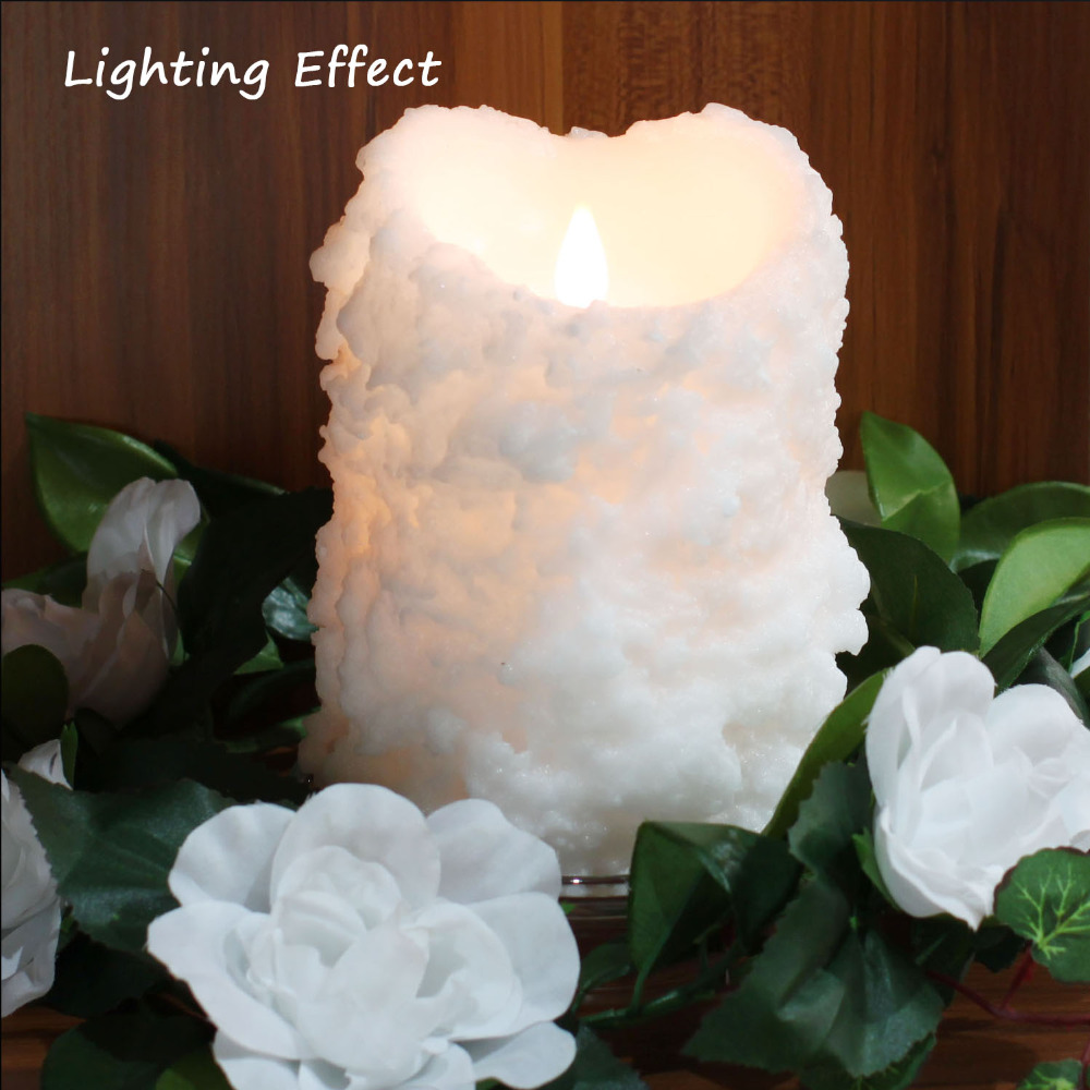 White Candle with Remote Control, Simplux Flameless Candle Light,2H/<font><b>4H</b></font>/6H/8H Timer , Battery Operate,Real Wax ,10.2&#215;15.2 cm