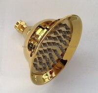 Luxury Gold Color Brass Round Shower Head Water Rains Shower Head With Shower Bathroom Set Shower Head Nsh009