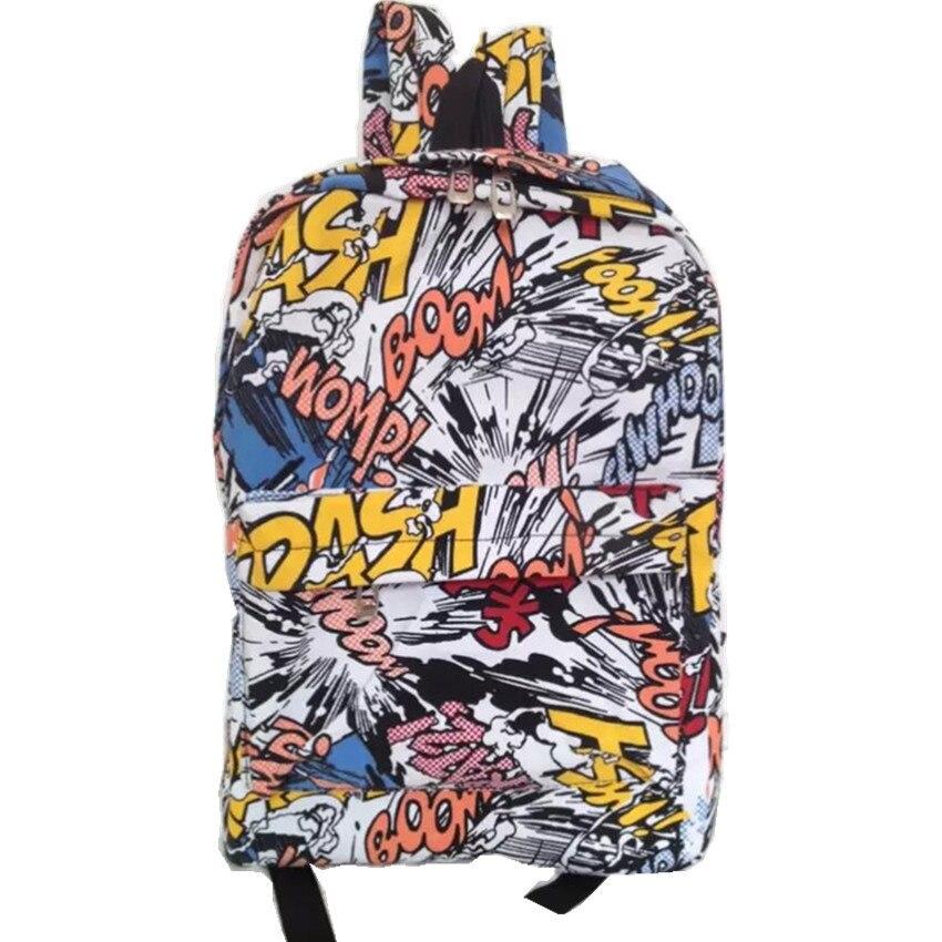 Graffiti hátizsák iskolatáska Iskolai táska Tizenévesek - Hátizsákok