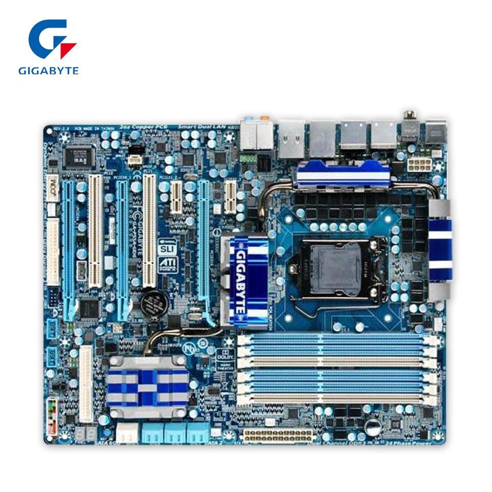 Gigabyte GA-P55A-UD6 Desktop Motherboard P55A-UD6 P55 LGA 1156 i5 i7 DDR3 16G SATA2 USB3.0 ATX gigabyte ga ep45 dq6 original used desktop motherboard ep45 dq6 p45 lga 775 ddr3 16g sata2 usb2 0 atx