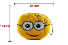 Cute Cartoon Plush Coin Purse Children Zipper Change Purse Wallet Hello Kitty Minions Pouch Bag For Kids Gift