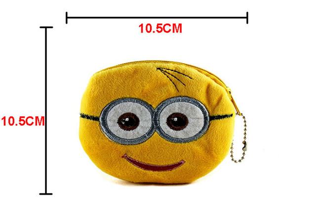 Roztomilá Cartoon malá plyšová peňaženka na mince Pokémon Pikachu Deti Zips Hello Kitty Superman Purse wallet Darček