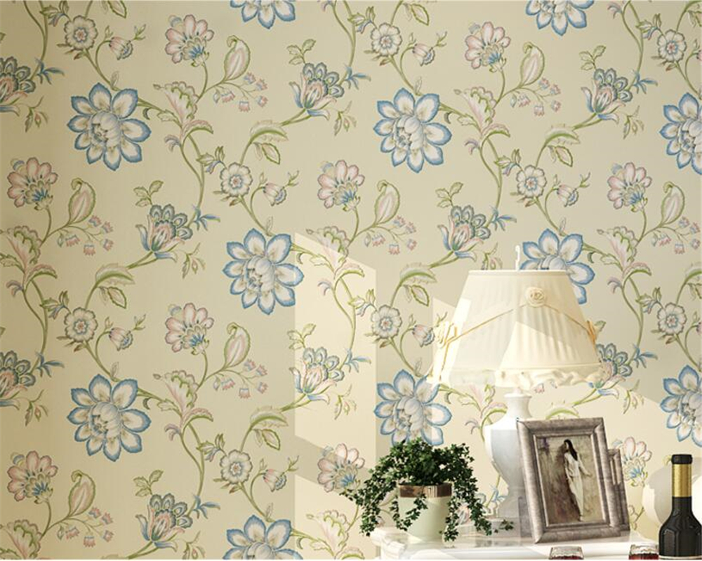 Beibehang American Village Wallpaper 3D European Wallpaper Bedroom Warm Living Room TV Background wall paper home decor beibehang american retro wallpaper roll desktop living room 3d wall paper home decor tv background green wallpaper for walls 3 d
