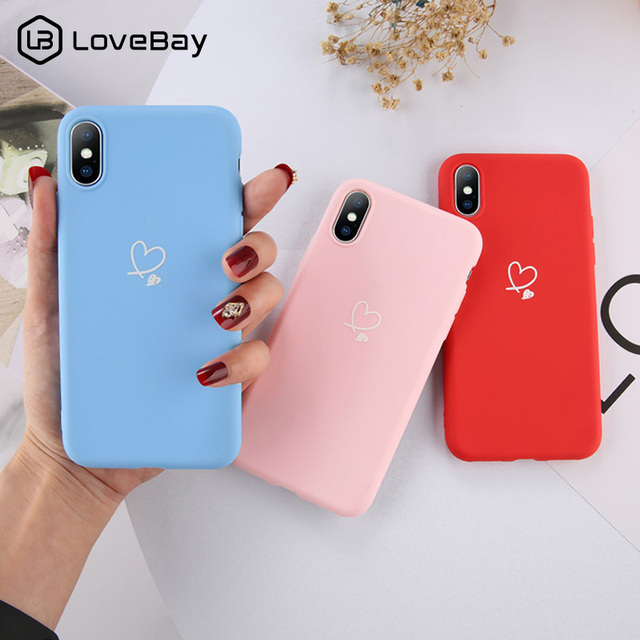 Colorful Love Heart Case For iPhones Candy Color Phone Case Soft TPU Back Cover 1