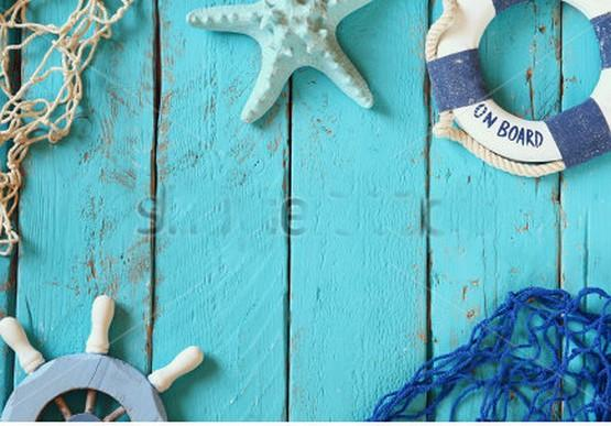 Nautical Picture Navy Light Baby Blue Wood Photography Backgrounds Vinyl cloth High quality Computer printed wall  backdrop шапка носок dc igloo nautical blue