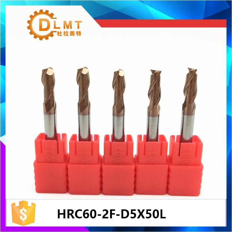 3Pcs 5mm Carbide End Mill Bit  4 Flute HRC50 TiAIN Coat CNC Engraving Cutter