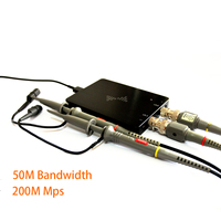DSCope Mini PC осциллограф анализатора логики Портативный инструменты выборки 50 м 200 м двойной пропускная способность канала USB Мощность пассажир