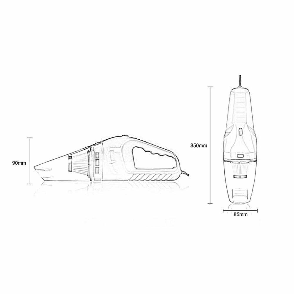 120w 12v car vacuum cleaner 5m cable handheld mini vacuum cleaner super suction dual use wet [ 1000 x 1000 Pixel ]