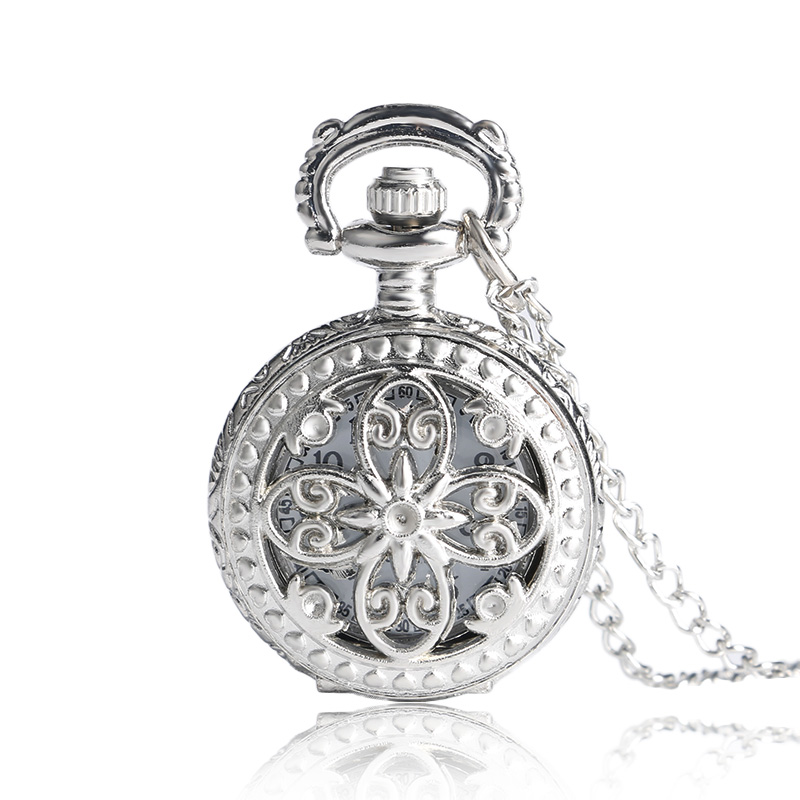 Xmas Gift 2018 New Antique Vintage Hollow Butterfly Long Necklace Pendant Quartz Pocket Watch Clock Women P605