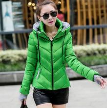 New 2016 Winter Women Wadded Jacket Red Female Outerwear Plus Size XXL Thickening Casual Down Cotton Wadded Coat Women Parkas
