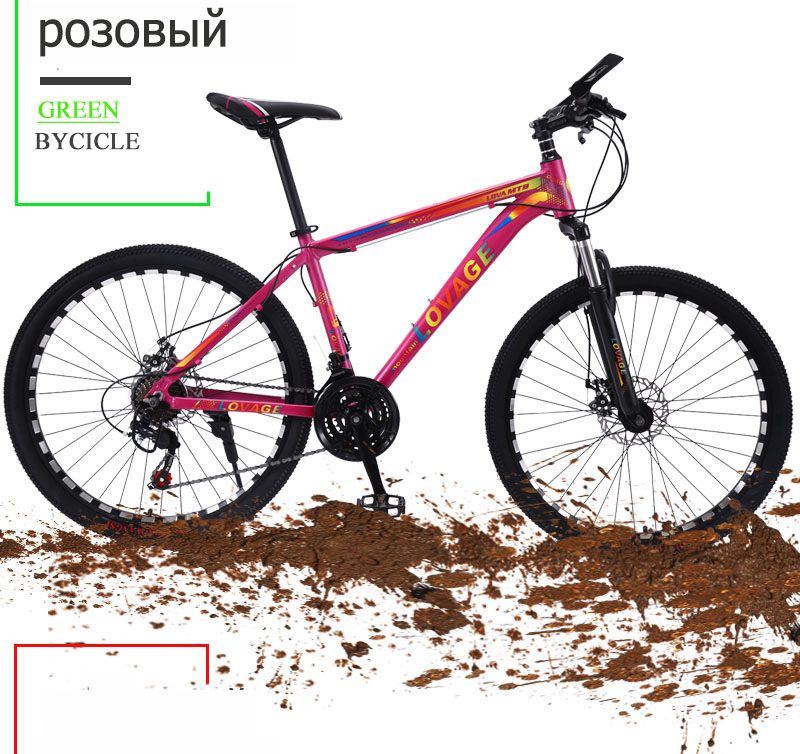 HTB1lnThd8WD3KVjSZKPq6yp7FXaC wolf's fang New Mountain Bike Bicycle 26 inches 21speed Fat bike Aluminum alloy frame Road bikes Spring Fork Front and Rear