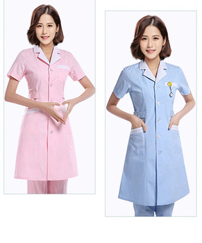 5713c8a54da78 Женщины с коротким рукавом медицинский Халат Костюмы услуги врача униформа  медсестры Костюмы защиты халаты ткани 3 цвета