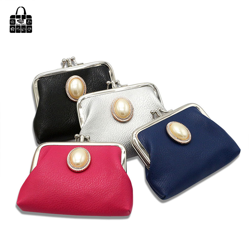 Rose Diary fashion Lovely luxury jewelry Double buckle Coin Purse female Key bag storage bag Banquet Packet Card bag small Gift