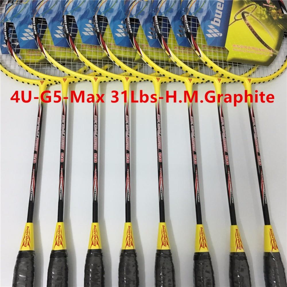 4U professional badminton racket G5 carbono badminton rackets raquette paddle