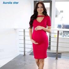 e339072b7 Bebé vestido de verano vestido de maternidad para el embarazo mujeres ropa  Casual partido negro vestido rojo vestidos fuera foto.