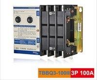 TYT Tae Ен TBBQ3 100III Двойной источник питания автоматический выключатель 100A 3 P двойного питания переключателя