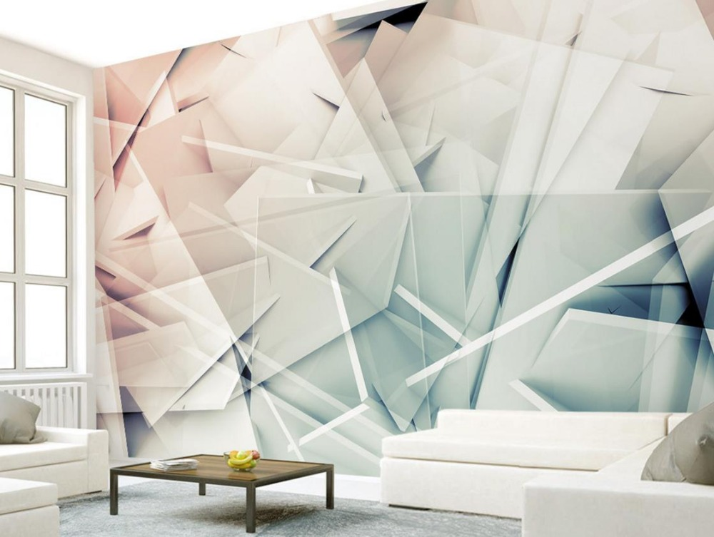 3d Stereoscopic Fashion Polygon Photo Wallpaper Simple Living room Bedroom TV Backdrop Modern Wall papers Home Decor custom 3d stereoscopic wallpaper for children infant child baby room wallpaper living room bedroom tv backdrop vinyl wallpaper