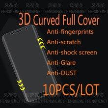 10 шт./партия 3D изогнутый полный протектор экрана для samsung S6 Plus S7 Edge S8 S9 Plus Note 8 9(не закаленное стекло