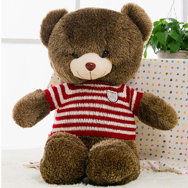 60cm to 180cm giant Hedgehogs bear skin toy plush Teddy Bear bearskin plush fabric plush toy with sweater Free shipping