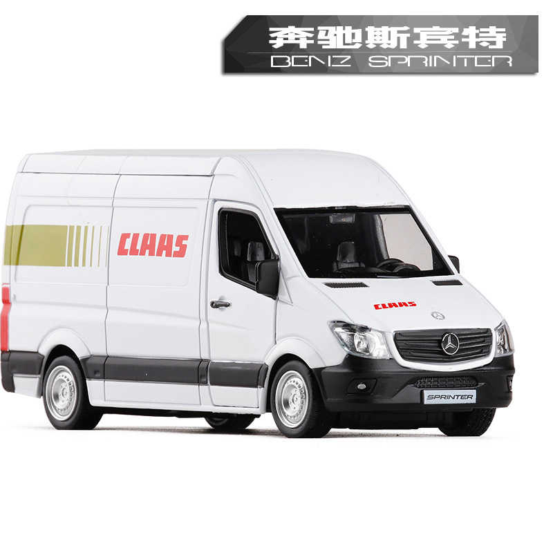 RMZ City 1:36 High Simulation Model Toy Car Metal Benz Sprinter Police Ambulance Car Alloy Bus Model For Kids Gifts Collection