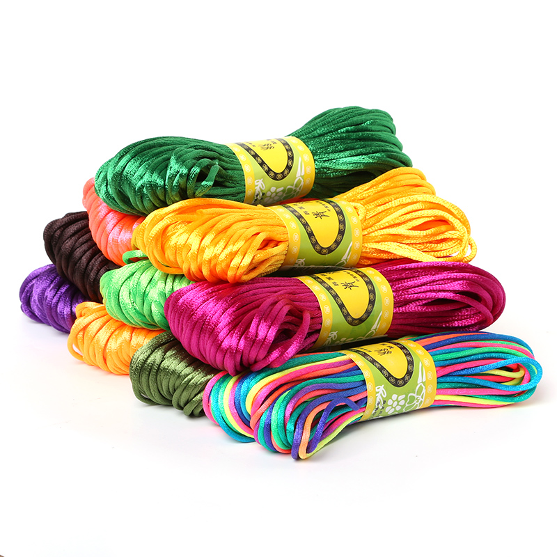 best cord for macrame aliexpress buy 2mm 20meter soft satin rattail silk 4091