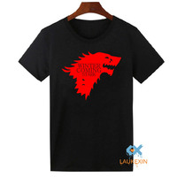 Winter Is Coming T Shirt Men S Game Of Thrones Tops Tee Shirts Camisetas The House