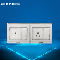 High Quality Surface Waterproof Wall Switch 2 way Single Control Switch IP55 Socket Widely Used 10A 55/2K1AM