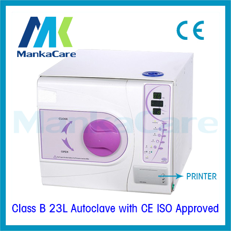 Dental Autoclave 23 Liters European Standard Class B Dental Medical Clinic Vacuum Steam Sterilizer WITH PRINTER DHL FEDEX FREE 12l class n autoclave medical dental autoclave sterilizer dental clinic or lab instruments disinfection cabinet lcd