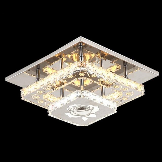 Ecolight modern led crystal flush mount led ceiling light 90 265v ecolight modern led crystal flush mount led ceiling light 90 265v l30w30 cm crystal ceiling aloadofball Image collections