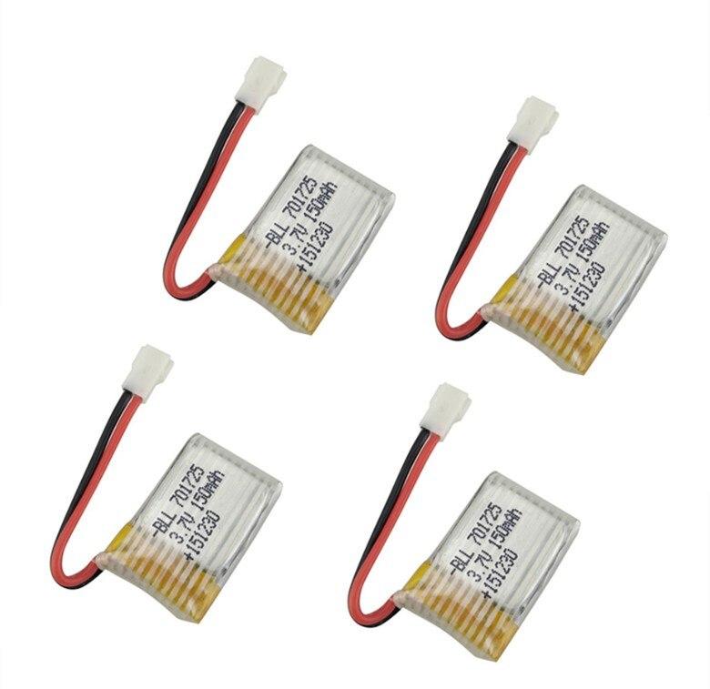 BLL 4pcs Original RC Part  H8 Mini 150mAh Lipo Battery 3.7V for RC H8 Mini Quadcopter