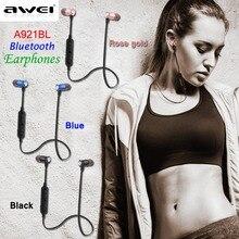 Черный/синий/золото AWEI A921BL Смарт Магнитный Спорт Bluetooth наушники беспроводные наушники с микрофоном Super Bass Музыки
