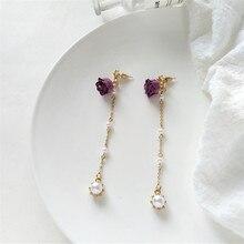 Pure and fresh and beautiful romantic elegant tassel earrings fashion lady long pearl earrings gift jewelry wholesale, 2018 стоимость