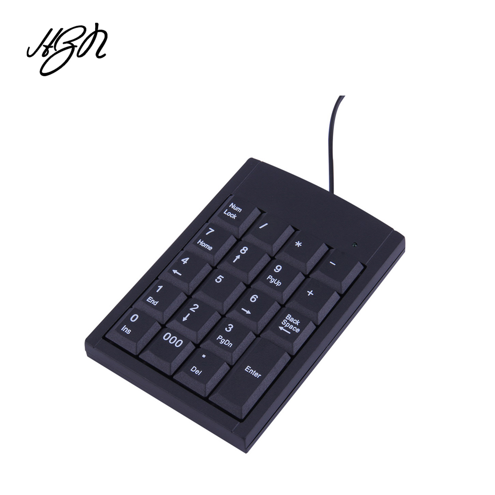 Mini USB Keyboard USB Wired Numeric Keyboard Keypad Adapter 19 Keys For Laptop PC Windows 2000 XP Vista 7 Or Millennium Edition