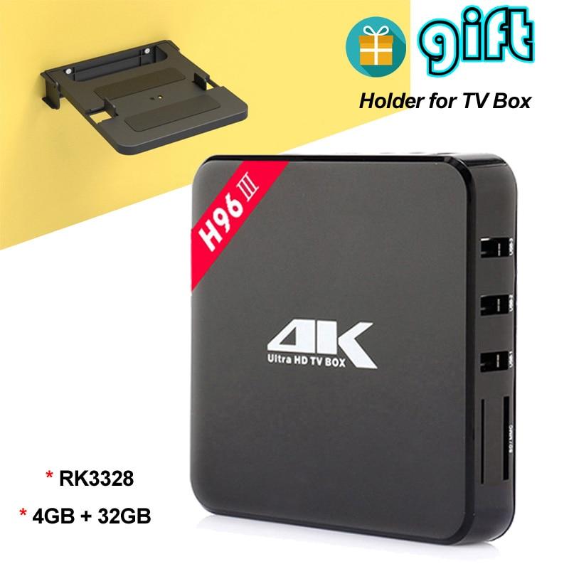 H96-III 4GB 32GB Android 7.1 Smart TV Box with Kodi 17.3 RK3328 Quad Core Mini PC 4K Media Player Bluetooth Wifi USB 3.0 Set Box