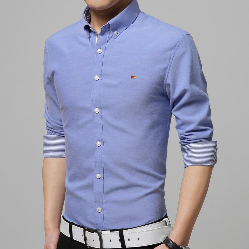 737fc369e08 Men Cotton Shirt 2016 Autumn New Brand Clothing Fashion Boy Business ...