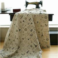 Bricolage utilisation linge maison de tissu de coton textile tissu gros - noir couleur modèles fils teints