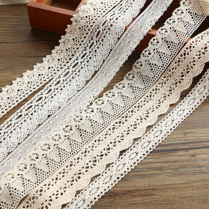Image 2 - 2 6CM 5 yards Beige lace high qualit  lace cotton lace sewing Home Furnishing garment accessories DIY material