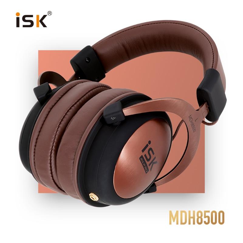 ISK MDH8500 Professional Monitor Studio Headphones Powerful DJ Over Ear HiFi Fully Enclosed Dynamic music Headset brand new original isk hp 960b over ear professional headphone 3 5mm studio monitor dynamic stereo dj hd headsets music earphone