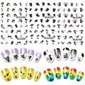 11 estilos del arte del clavo pegatinas gatito gato negro polaco ultravioleta del Gel consejos de bricolaje manicura tatuajes 8TYA