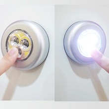 Светодиодный сенсорный светильник 3/4, для домашней кухни, под шкафом, шкаф, нажимная палка на лампу, на батарейках, для гардероба, сенсорный светильник, светодиодный светильник