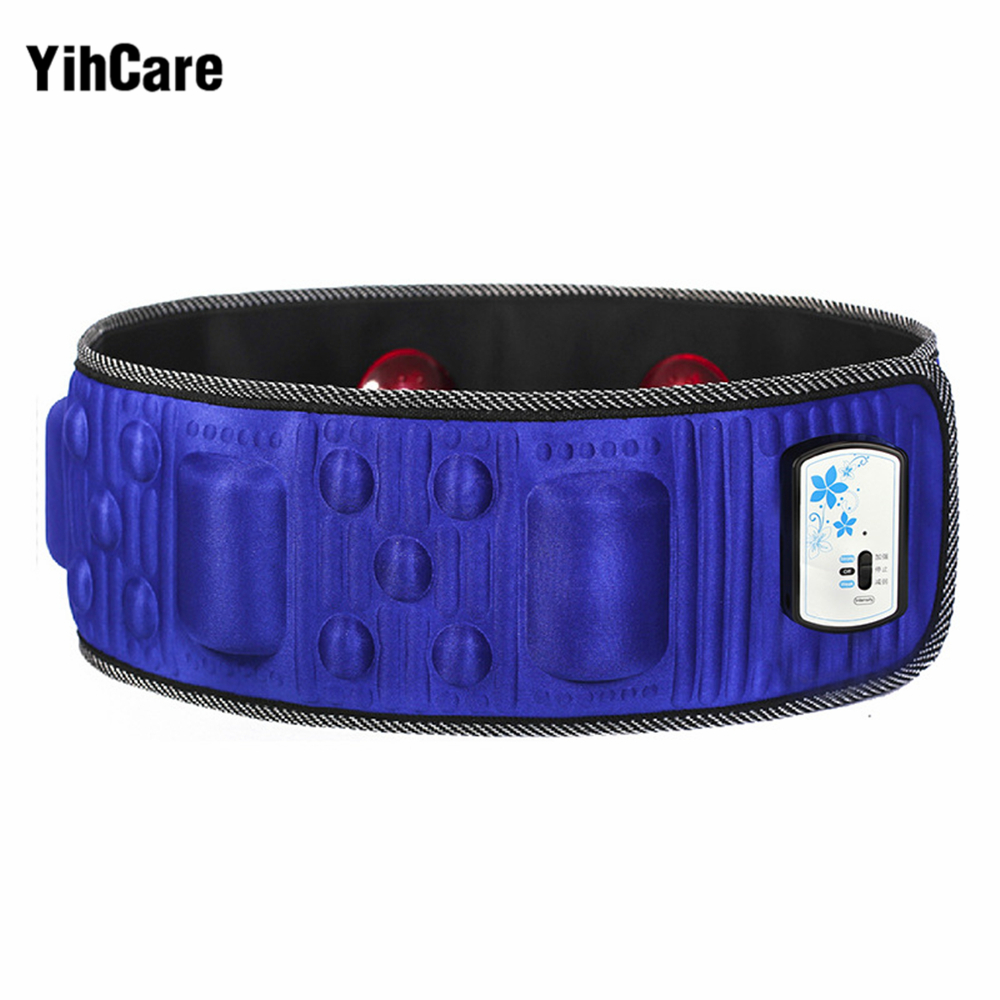 YihCare 220V Electric Vibration Infrared Ray Sauna Waist Slimming Belt Fat Burning Heating Massage Vibrator Massager 5 Times fat burner reduction slimming belt waist massager heating vibration sauna gub