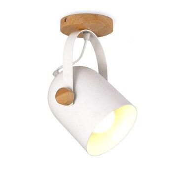 פשוט תאורה מתכת עץ מיני תקרת אור סלון חדר שינה מודרני יצירתי מעבר מדרגות מנורת תקרת מנורת אמנות מנורת קיר פנימית LED פנסים ותאורה -