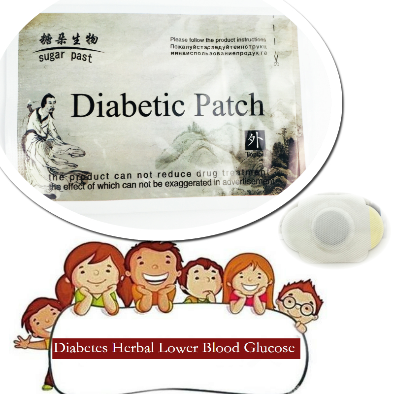 5 pcs Diabetes Treatment Reduced Insulin Lower Blood Glucose Cure Diabetic Patch Reduce  ...