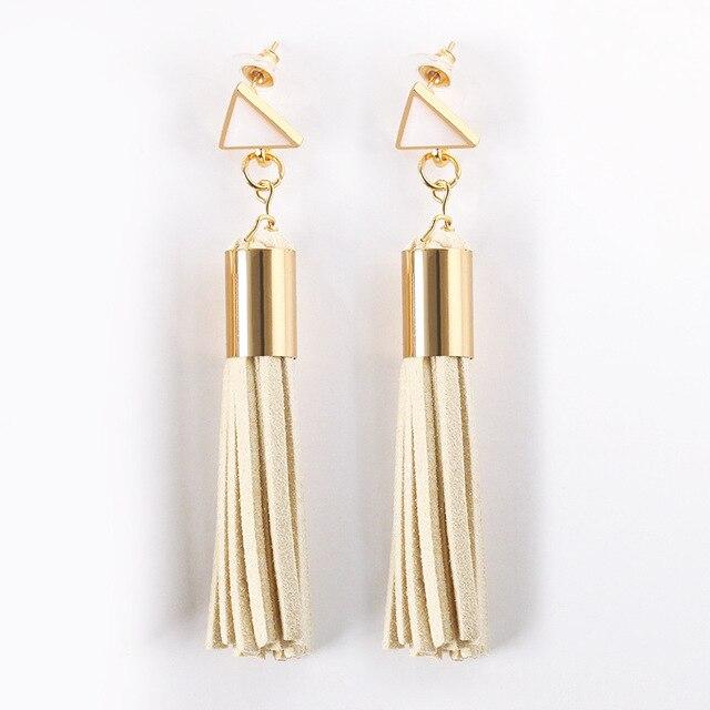 Богемные Винтажные серьги с вырезами зеркальные длинные кисточки