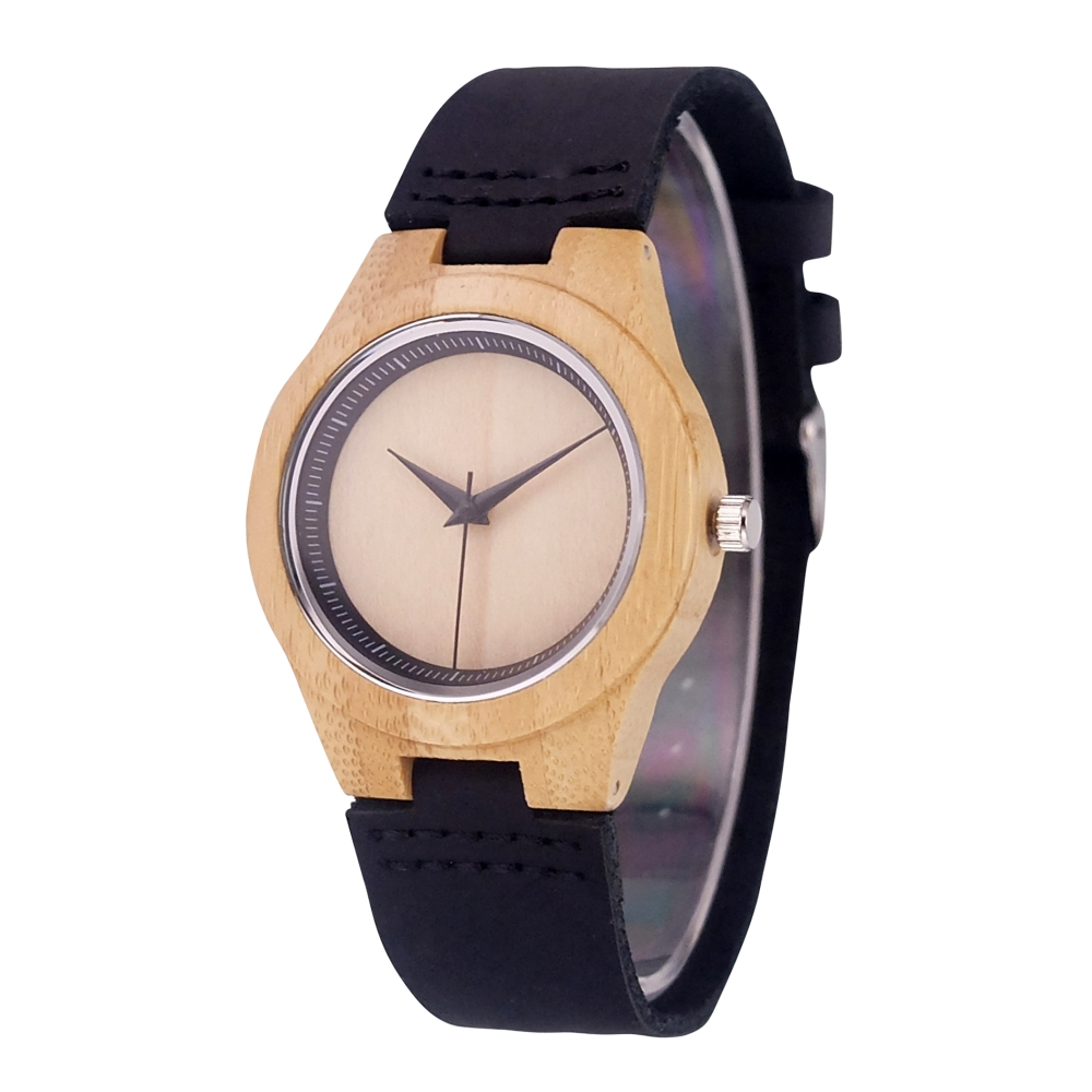2018 Fashion Casual Small dial Wood Watch Genuine Leather men women Quartz wooden Watch Female clock dropshipping with gift box creative rectangle dial wood watch natural handmade light bamboo fashion men women casual quartz wristwatch genuine leather gift