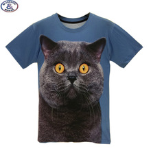 Mr 1991 brand kids t shirt for boy or girls Big fat cat printed 3D t