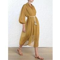 2019 женское летнее богемное длинное платье с пышными рукавами шелковое пляжное платье с круглым вырезом Летняя женская одежда/пожалуйста, х
