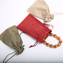 10*15Cm 50Pcs/Lot Candy Pouches Bags Linen Gift Drawstring Bags For Wedding Party Jewelry Decoration Favor Gift Draw Pocket